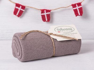 Solwang Küchentuch gestrickt warm grau Baumwolle Handtuch Geschirrtuch