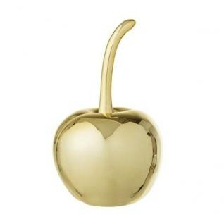 Bloomingville Deko Objekt Kirsche gold groß Keramik am Stiel 16.5 cm