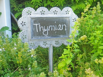 Metallschild Garden Stecker. Kreide Tafel. Gartenschild. Gartenstecker Schild