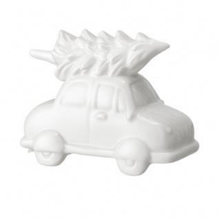Weihnachtsdeko Weisses Porzellan.Bloomingville Auto Mit Baum Porzellan Weiß Figur 10 Cm Weihnachtsdeko Tischdeko