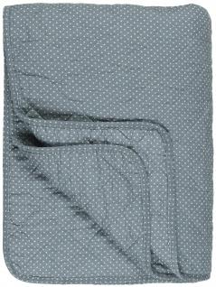 IB Laursen Quilt Blau mit Punkten Decke Tagesdecke 130x180 cm Bettüberwurf