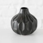 Vase ROSIE schwarz Keramik Blumenvase 11 cm Geschenk Design Klassik Tisch Deko