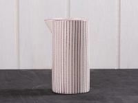 IB Laursen Kanne Casablanca lila weiß 0, 2 Liter Streifen Geschirr Milchkännchen