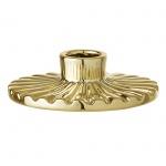 Bloomingville Kerzenhalter Gold Rund Porzellan Kerzenständer 11 cm für 1 Kerze