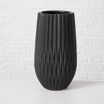 Vase FRIEDA schwarz Keramik Blumenvase 30 cm groß Deko Design Klassik Tischdeko
