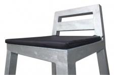 A2 Living Sitzkissen schwarz Baumwolle 34 x 34 mit 1 cm Schaumstoff Füllung