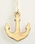Deko ANKER Hänger Gold 13 cm Metall Maritime Deko Geschenk Anhänger Seefahrt