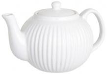 IB Laursen Teekanne Mynte weiß Keramik Kanne Pure White 1 Liter Geschirr
