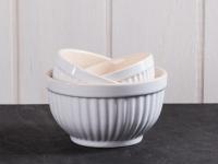 IB Laursen MYNTE Schalensatz Pure White Weiß Schüsseln Keramik 3er Set Schalen
