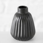 Vase SINA schwarz Keramik Blumenvase 12cm Deko Geschenk Tischdeko Design Klassik