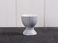 IB Laursen Eierbecher Mynte grau Keramik French Grey Geschirr innen beige