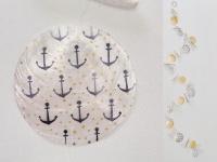 Deko Girlande ANKER Punkte 180 cm Treibholz Capiz Kette Maritime Deko Strandgut