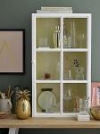Bloomingville Schrank weiß 90 cm Wandschrank 2 Böden 1 Tür Cabinet