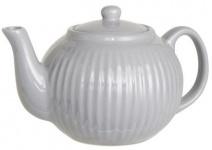 IB Laursen Teekanne Mynte grau Keramik Kanne French Grey 1 Liter Geschirr