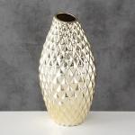 Vase EMMA Gold Keramik Blumenvase 30 cm groß Deko Design Klassik Tischdeko