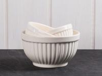 IB Laursen MYNTE Schalensatz Butter Cream creme weiß Schüsseln Keramik 3 Schalen