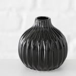 Vase RUTH schwarz Keramik Blumenvase 11 cm Geschenk Design Klassik Tisch Deko