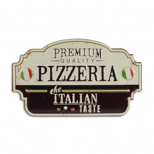 Blechschild Premium Pizzeria italian Retro Optik