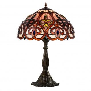 Barock Tiffany Lampe RUBAN ROUGE im Luxus-Design