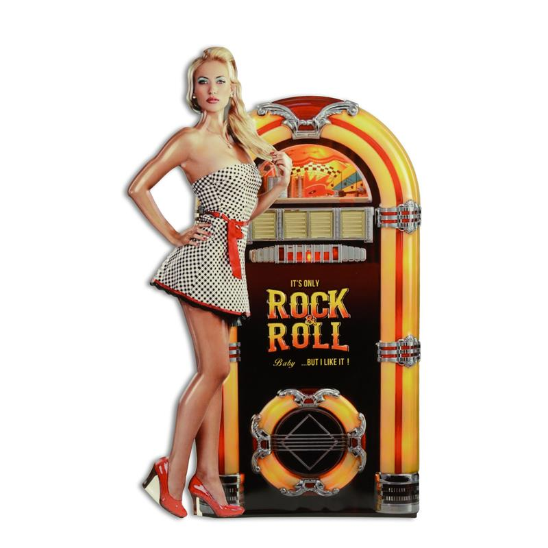 Rock and Roll Blechschild jukbox 50/60er Jahre Retro optik