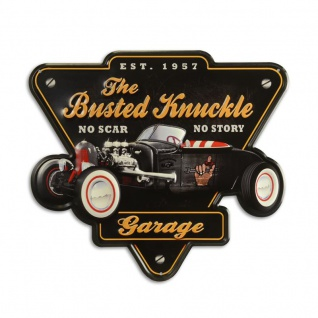 Blechschild Gerage Busted knuckel Hot Rod Werbung Retro optik