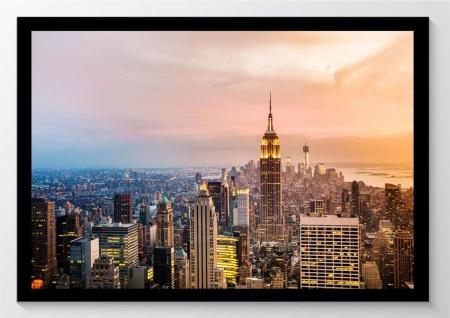 New York City Skyline Kunstdruck Poster -ungerahmt- Bild DIN A4 A3 K0632