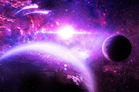 Planet Planeten All Galaxy Weltall Poster P0232
