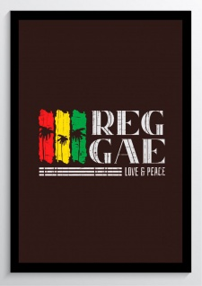 Reggae Love and Peace Kunstdruck Poster -ungerahmt- Bild DIN A4 A3 K0979