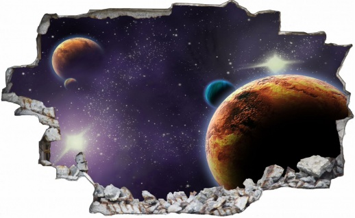 Planet Sterne Weltall All Galaxy Wandtattoo C0219
