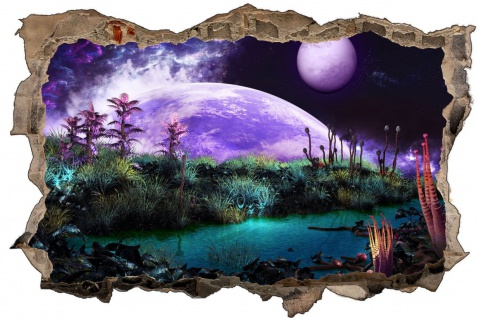 Science Fiction Planet Universum Wandtattoo Wandsticker Wandaufkleber D1767 - Vorschau 1