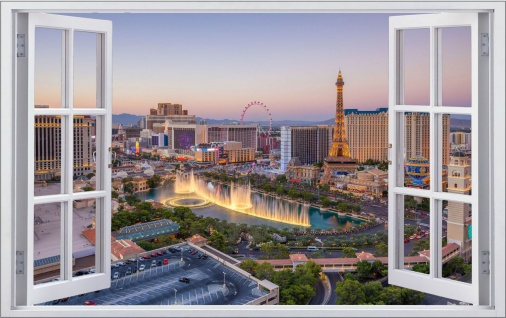 Las Vegas Skyline Nevada USA Wandtattoo F1034