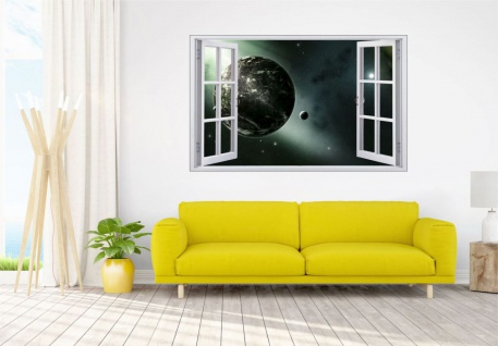 Science Fiction Planet und Mond Wandtattoo Wandsticker Wandaufkleber F1766 - Vorschau 2