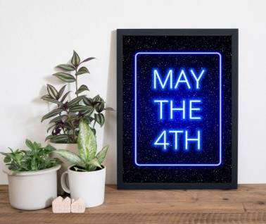 May the 4th. Weltraum Kunstdruck Poster -ungerahmt- Bild DIN A4 A3 K0259 2