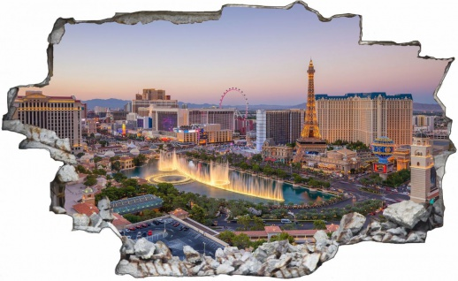 Las Vegas Skyline Nevada USA Wandtattoo C1034