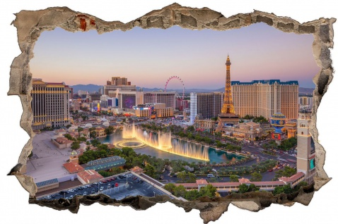 Las Vegas Skyline Nevada USA Wandtattoo D1034