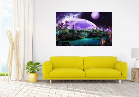 Science Fiction Planet Universum Wandtattoo Wandsticker Wandaufkleber R1767