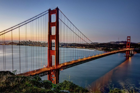 Golden Gate Bridge San Francisco Stadt XXL Wandbild Foto Poster P0006