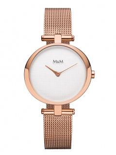 M&M Uhren in Zwickau: Damenuhr Mesharmband rosè M11931-991, Ring O