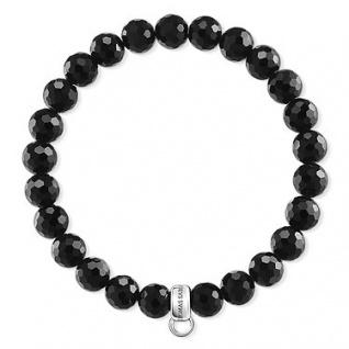 Thomas Sabo X0220-840-11-L16, 5 Charm- Armband Silber, Obsidian facettiert