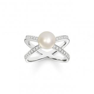 Thomas Sabo Ring Silber Perle TR2077-167-14-54
