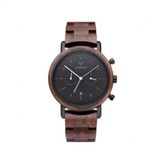 Kerbholz Uhren in Zwickau: Herrenuhr Johann Walnut Black 4251240414461