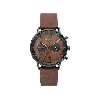 Kerbholz Uhren in Zwickau: Herrenuhr Herbert Walnut Black Tobacco 4251240414676