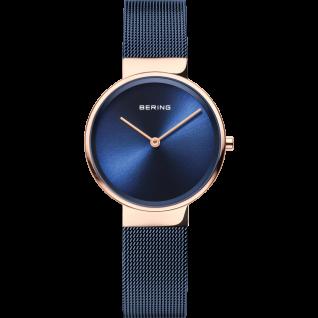 Bering Uhren in Zwickau: Damenuhr Classic Women Mesh blau 14531-367