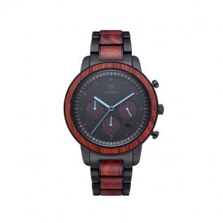 Kerbholz Uhren in Zwickau: Herrenuhr Maximilian Black Rosewood 4251240414560
