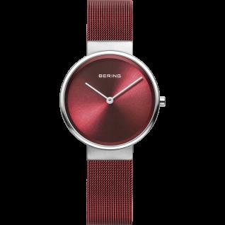 Bering Uhren in Zwickau: Damenuhr Classic Women Mesh rot 14531-303