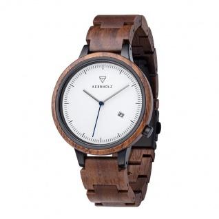 Kerbholz Uhren in Zwickau: Armbanduhr Lamprecht Walnut Silver 4251240409900