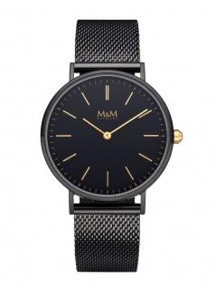 M&M Uhren in Zwickau: Armbanduhr Mesharmband schwarz M11892-955, Basic Line 36