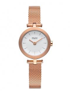 M&M Damenuhr Mesh- Armband rosè M11945-792 Mini M bowl