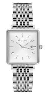 Rosefield Uhren in Zwickau: Damenuhr The Boxy White Sunray Steel Silver QWSS-Q08