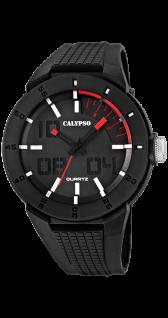 Calypso Uhren in Zwickau: Herrenuhr analog schwarz K5629/2